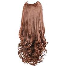 wig Pelucas, rizos de Mujer, Cabello Largo en Forma de U, Ondulado,