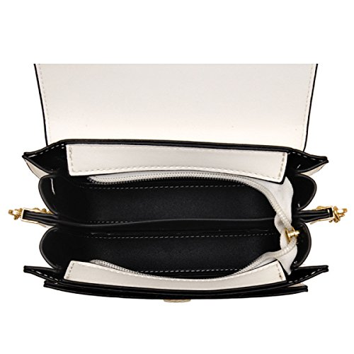 QPALZM 2017 Stickerei Freizeit Multi-Layer-Kette Tasche Schultertasche Diagonale Mehrzweck-Handtasche Black