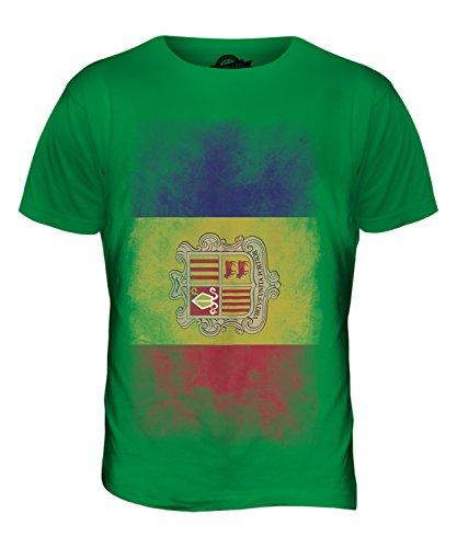 CandyMix Andorra Verblichen Flagge Herren T Shirt Grün