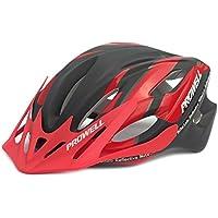 Prowell 55R Phoneix casco da bicicletta (rosso nero, Large)