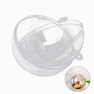 BESTOYARD Bola de plástico Transparente Bola de Navidad Transparente Adorno de árbol de Navidad Adornos 6cm