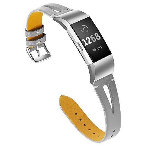 Aottom für Lederarmband Fitbit Charge 2,Armband Fitbit Charge 2 Leder mit Metall Schließe Armbänder Charge 2 Ersatzarmband Uhrenarmband Fibit Armband Charge 2 für Fitbit Charge 2 -