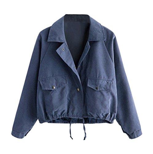 Moonuy,Damen Long Sleeve Hoodies, Damen Cord Patchwork Oversize Zipper Jacke Windbreaker Crop Mantel Lässige Mantel für Party, Beach Damen Mädchen Sweatshirt (Blau 2, EU 36 / Asien M)