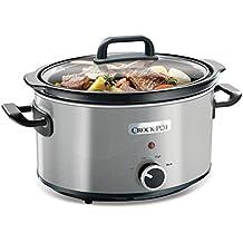 Crock-Pot CSC025X - Olla de cocción lenta de 3,5 l, color gris