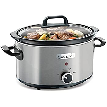 Crock-Pot Slow Cooker, 3.5 Litre, Stainless Steel