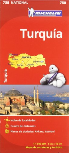 Mapa National Turquía (Mapas National Michelin) por Vv.Aa