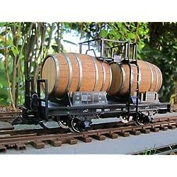 Zenner Vagón barril para Vino con Barricas madera de roble, Spur G Jardín tren