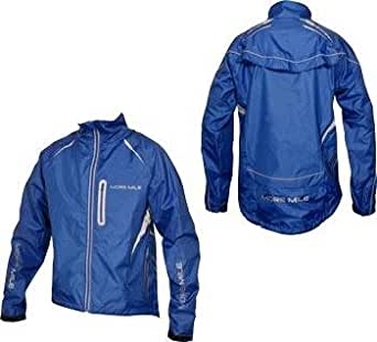 More Mile Hi-Viz Tour Elite Cycle Jacket Royal Blue / Reflective Silver