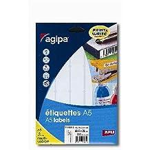 Etui A5 480 étiquettes blanches 19*38 mm