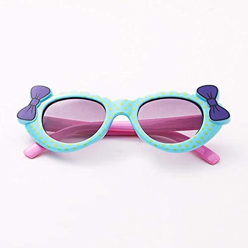 CYCY Brillen für Kinder Sonnenbrille niedliche Mädchen Zustrom von Männern und Frauen, Jungen und Mädchen Baby Mode-Accessoire Sonnenbrille Orangeton # 5, 9 Modelle Blaue Schleife