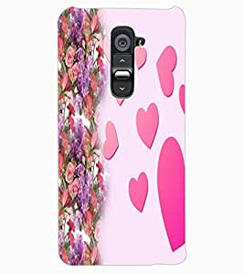 ColourCraft Love Hearts Design Back Case Cover for LG G2