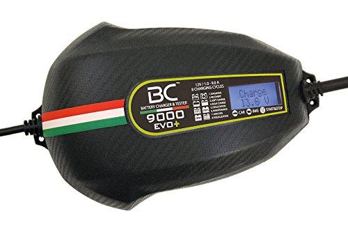 BC 9000 EVO+ CHARGE&TEST 12V 9A/1A - Caricabatteria Digitale e Tester di Batteria e Alternatore per Tutte le Batterie 12V Piombo/Acido Auto, Moto e AGM/EFB Start&Stop