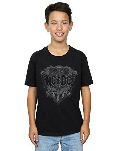 AC/DC Jungen Black Ice T-Shirt 3-4 Years Schwarz