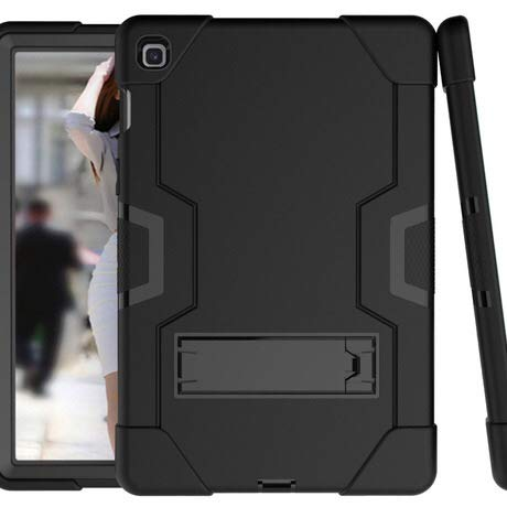 Golden Sheeps Kompatibel für Samsung Galaxy Tab A 10.1 Zoll Modell SM-T510 SM-T515 2019 Stoßfeste Hybrid Drop Proof Armor Defender Full Body Protection Case Convertible Built-in Stand, schwarz Defender Case Schwarz
