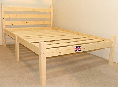 Kingsize 5ft HEAVY DUTY Wooden Frame with extra wide base slats and centre rail - VERY STRONG