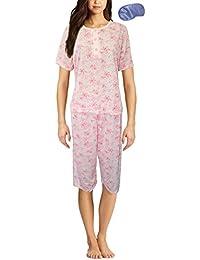 946161427c Inspirations Women s Mia Floral Print Sleeveless Top   3 4 Bottoms Pyjama  Set