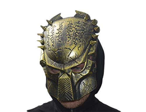 GYD Maske Maskenball Verkleiden Kostüm für Fasching, Karneval, Halloween No Face (Riesen Auswahl) (Predator Maske Gold) Purge