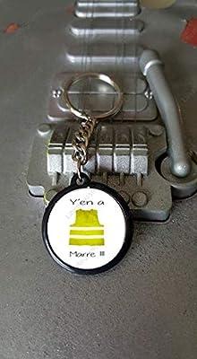 Porte clés 25 mm Gilet Jaune Y'en A Marre !!
