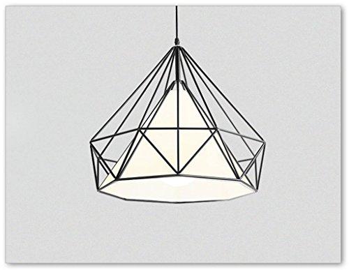 Lustre en verre Restaurant American Style Vents Industriel petit lustre Simple (Couleur : Noir-38*37cm)