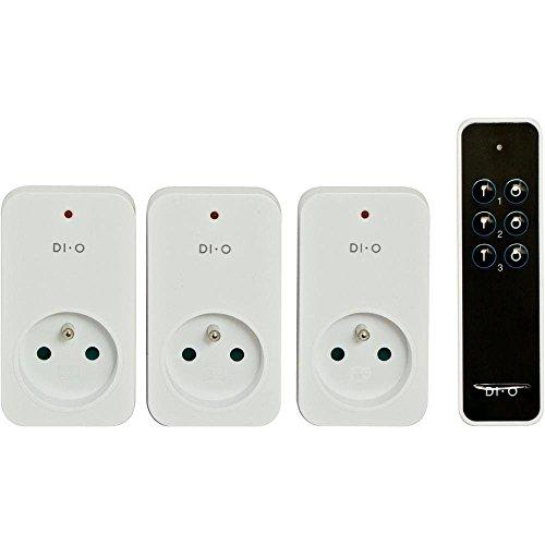 DiO Connected Home 3 prises télécommandées ON/OFF 2300W, occasion d'occasion  Livré partout en Belgique