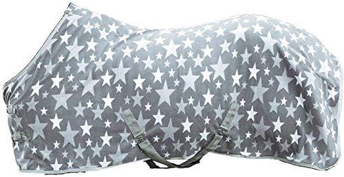HKM Abschwitzdecke -Stars-, Rückenlänge 135 cm, grau