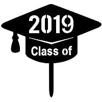 BESTOYARD Classe di 2019 Toppers Torta di Laurea 2019 Decorazioni Festa  Torta di Laurea (Nero 7f4bc50dae82