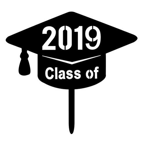 BESTOYARD Klasse von 2019 Cake Topper Acryl 2019 Abschluss Party Dekorationen Zubehör für High School Graduation College Graduate