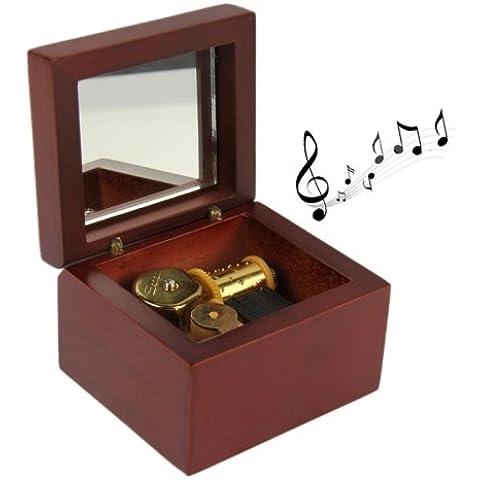 Caja De Música De Madera De Color Rojo Para Los Niños Regalo De Cumpleaños De Los Niños De Juguete Favor De Partido Chico Regalo De
