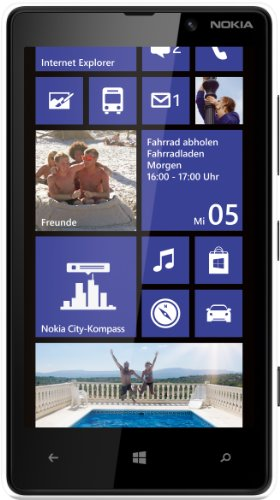 Nokia Lumia 820 Smartphone (10,9 cm (4,3 Zoll) ClearBlack OLED WVGA Touchscreen, 8 Megapixel Kamera, 1,5 GHz Dual-Core-Prozessor, NFC, LTE-fähig, Windows Phone 8) gloss white (Nokia 8 Phone Windows)
