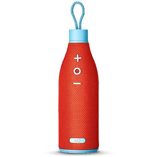Bluetooth Tragbare Lautsprecher mit lauter Stereo Sound von SUNLIKING (Bierflasche Design Drahtlose Speaker für Party Bar Outdoor)