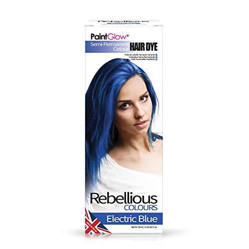 PaintGlow Tinta per Capelli Semi-Permanente Electric Blue - 20 gr