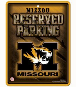 NCAA haute résolution en métal de parking Sign, Missouri Tigers