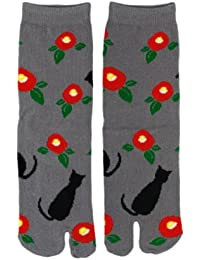 Chaussettes tabi Neko gris Importe du Japon