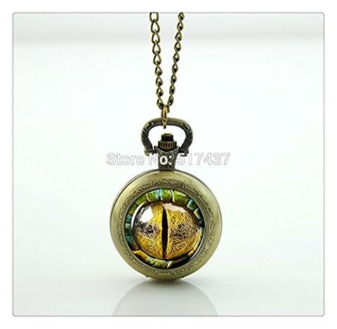 Dragon Eye Photo Montre De Poche Collier médaillon style rétro vintage montre de poche collier
