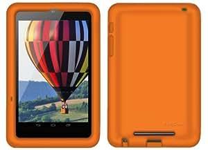Bobj Etui en Silicone Robuste pour la Tablette Nexus 7 1ère Génération 2012 WiFi et 3G 4G (pas pour Nexus 7 FHD 2ème Génération 2013) - BobjGear Housse de Protection - Orange