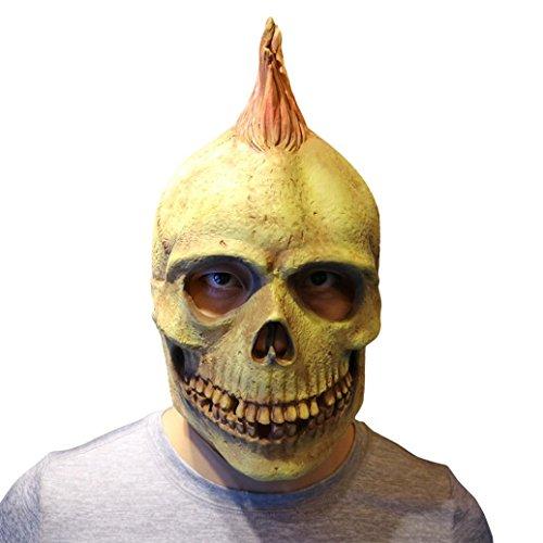 Maske New, yoyoug Punk Stil Maske Melting Face Erwachsene Latex Kostüm Walking Dead Halloween Scary ()