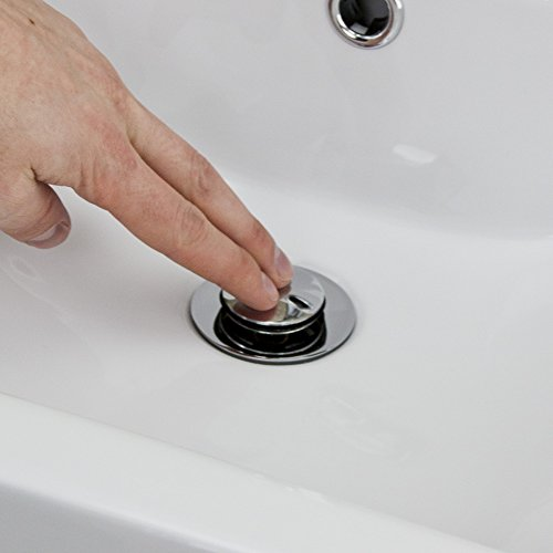 valuebaths Waschtisch Ablaufgarnitur Schlitz Chrom Full Cover Clicker Plug