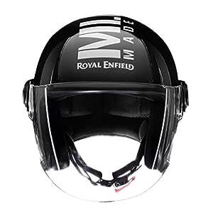 Royal Enfield Gloss Black Open Face with Visor Helmet Size (L)58 CM (RRGHEL000041)
