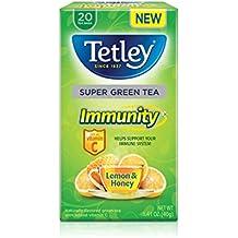 Immunity Lemon & Honey : Tetley Green Tea, Immunity Lemon & Honey, 20-Count (Pack of 6)