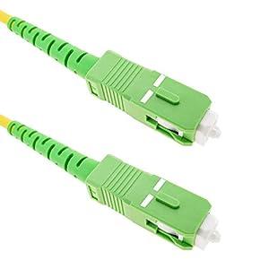 fibra optica: Cablematic - Cable de fibra óptica SC/APC a SC/APC monomodo simplex 9/125 de 3 m...