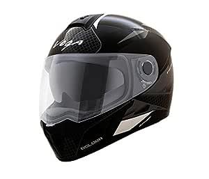 Vega Ryker Bolder Full Face Helmet (Black/Silver, M (58 cm))