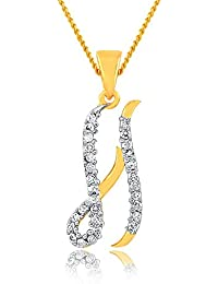 Artistically Gold Plated Alphabet 'H' Letter Pendant Locket With Chain For Men And Women/Boys & Girls