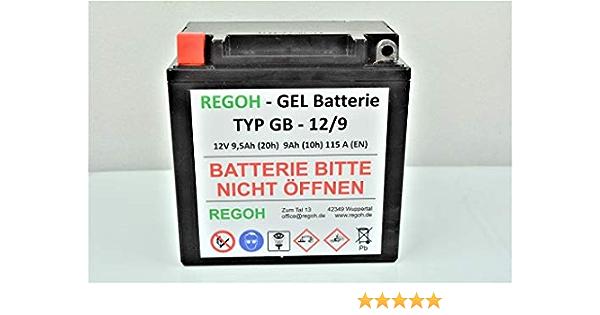 Regoh Battery Gel Battery Equivalent Gt9l Bs Snow Blower Motorcycle Quad Baumarkt