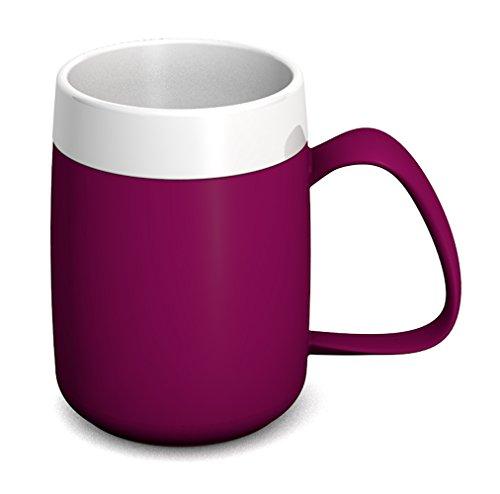 Ornamin Thermobecher 260 ml brombeer | doppelwandige Tasse aus Kunststoff hält Getränke lang in der gewünschten Temperatur | Isolierbecher | Thermotasse