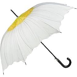 VON LILIENFELD Paraguas Sombrilla Mujer Automática Motivo Floral Margarita