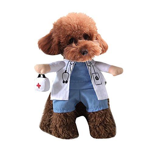 Pineocus weiß Doctor Stil Pet Hunde Cosplay Coat (Kostüm Arzt Pet)