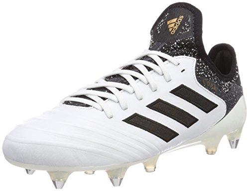 adidas Herren Copa 18.1 SG Fußballschuhe, Weiß (Footwear White/Core Black/Tactile Gold Metallic), 40 2/3 EU