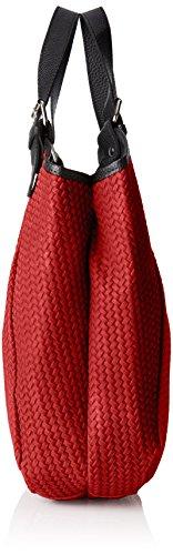 Chicca Borse 80050, Borsa a Mano Donna, 32x31x9 cm (W x H x L) Rosso