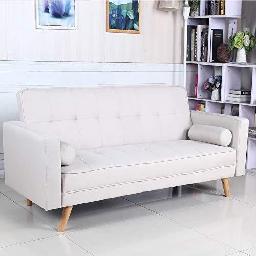 Sofá Cama 3 plazas Clic Clac Davao Beige tapizado con Tela 100%...