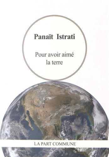 Pour avoir aimé la terre